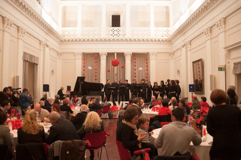 Coro Giovani Fabrianesi al Ridotto del Teatro Gentile di Fabriano per