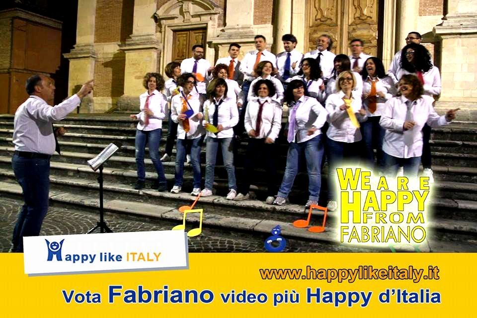 "Coro Giovani Fabrianesi a ""We are happy from Fabriano"""