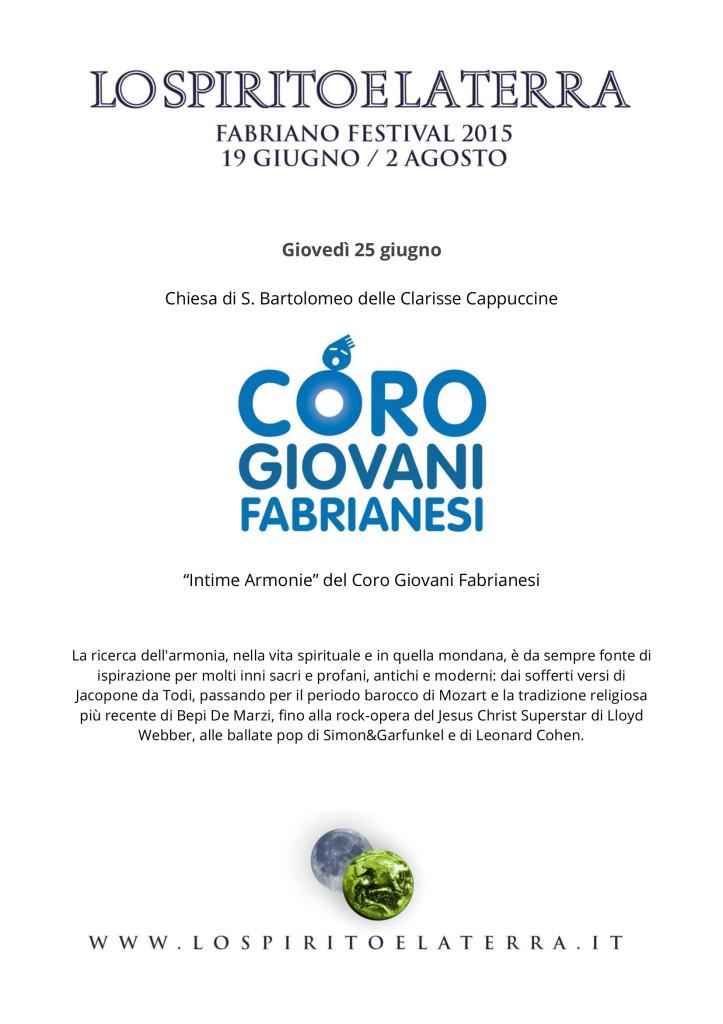 Il Coro Giovani Fabrianesi al Festival di Fabriano Lo Spirito e la Terra 2015