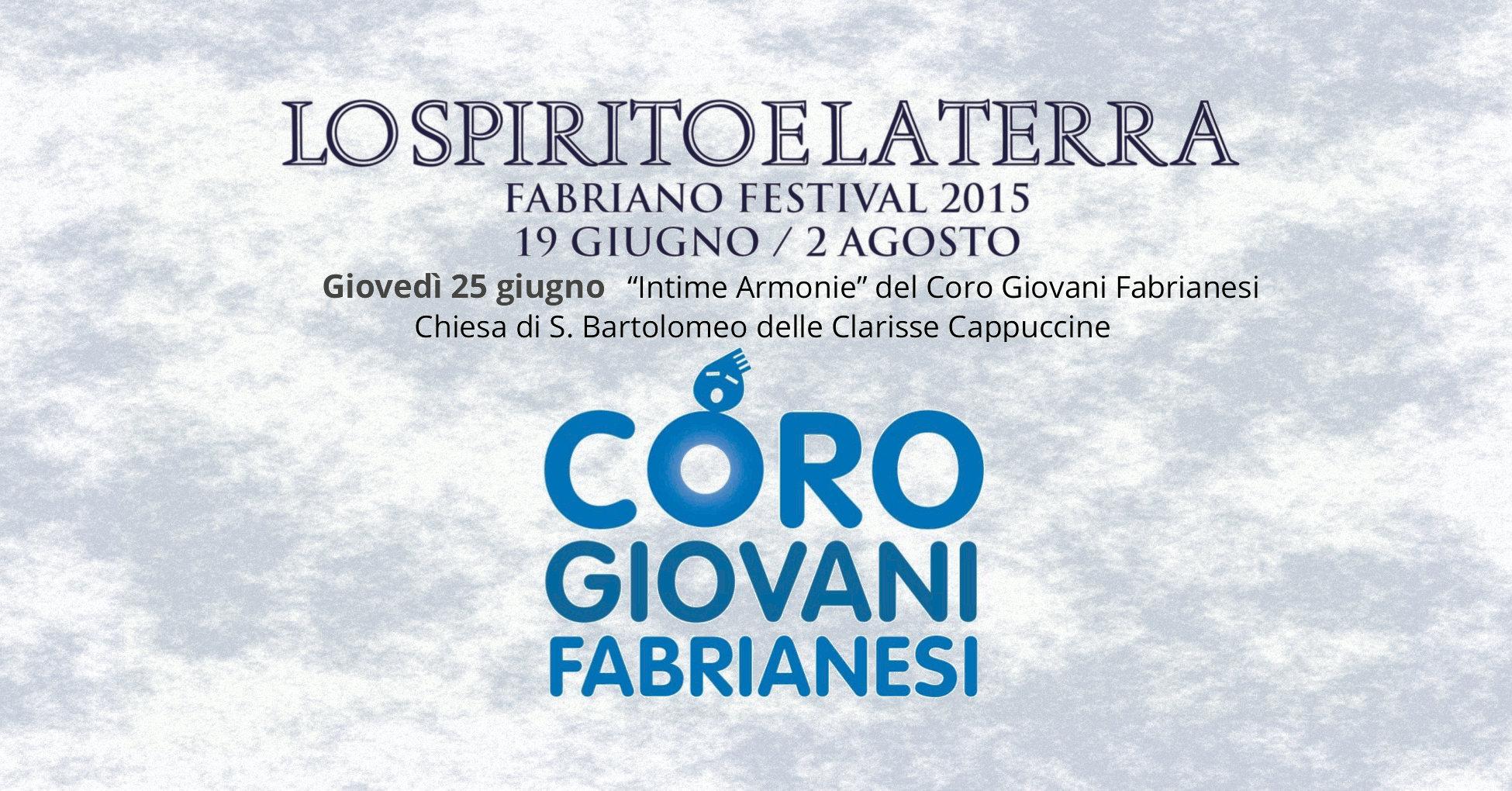 """Il Coro al Festival di Fabriano """"Lo Spirito e la Terra"""" 2015"""