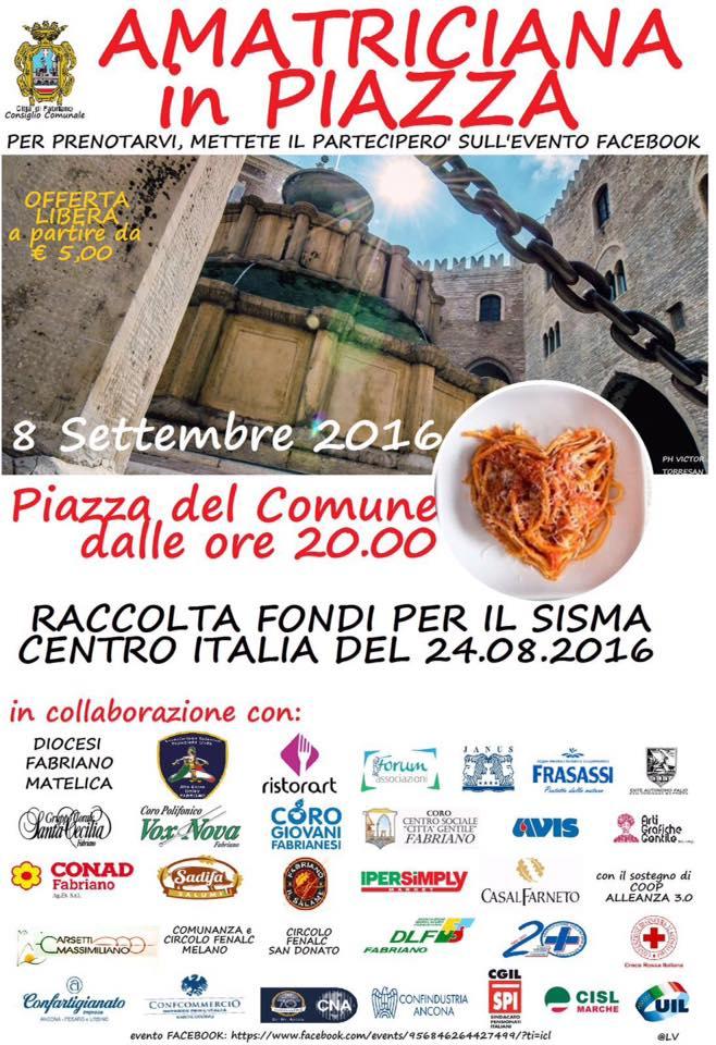 Coro Giovani Fabrianesi all'Amatriciana in Piazza