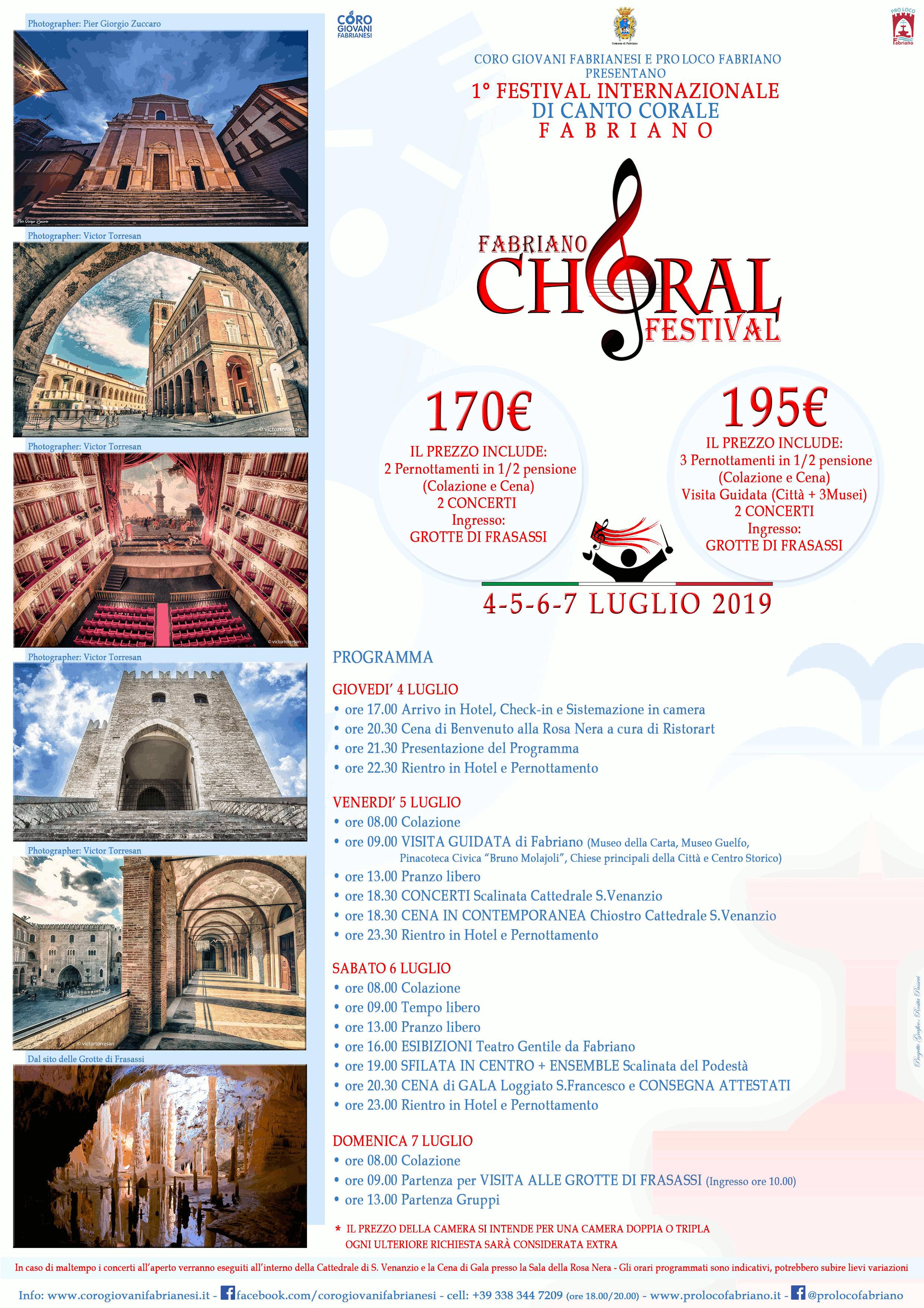 Fabriano Choral Festival - programma